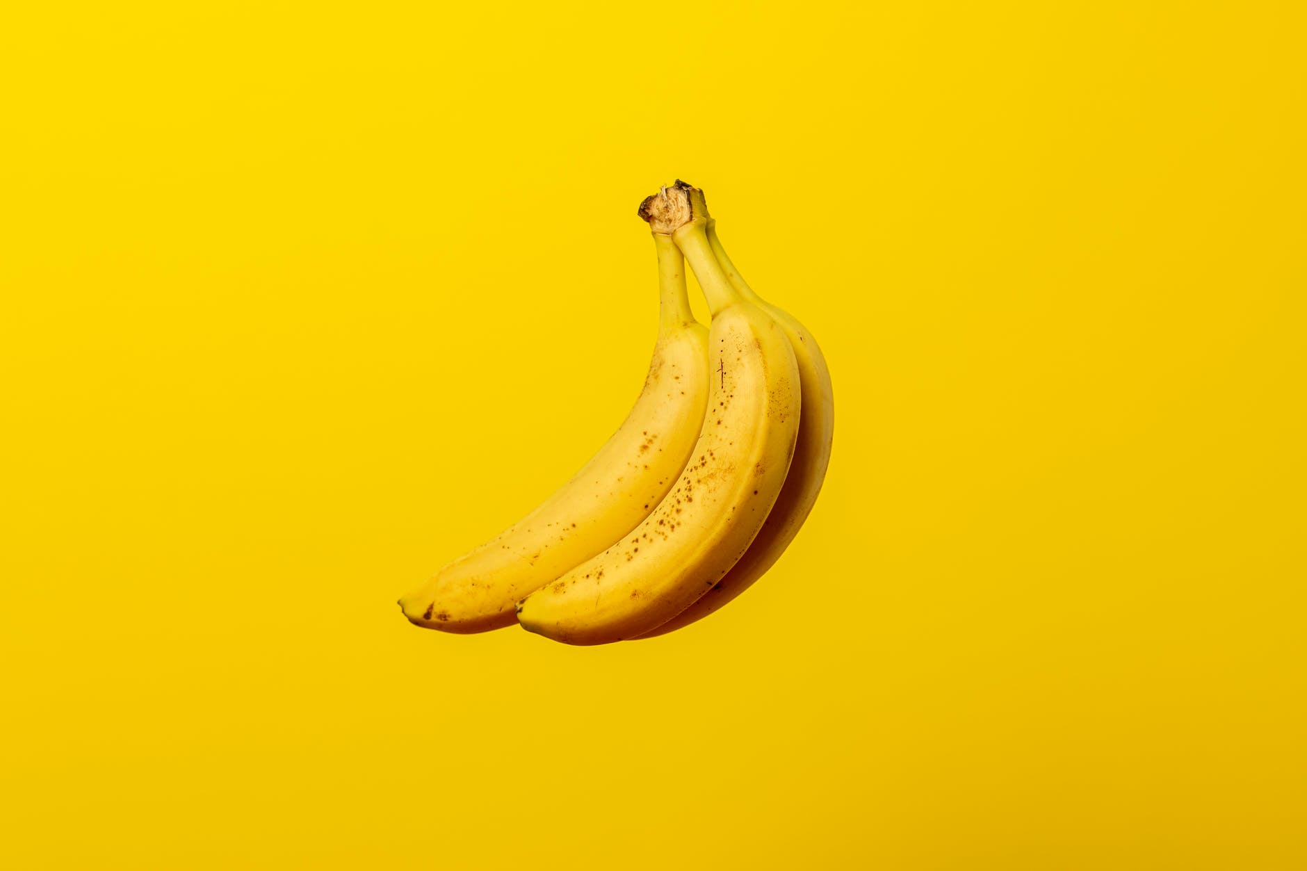 copy space photo of yellow bananas