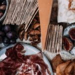 various fruits and meat on table